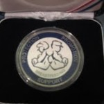 Service women from Aviano Air Force Base (a US base in Italy) who breastfeed exclusively for a specified time period also receive this coin for their commitment.