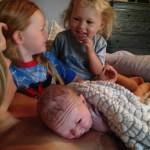 Loving sisters and vernix on my shoulder