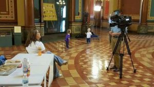 Media attention at the 2016 Nationwide Nurse-In Iowa