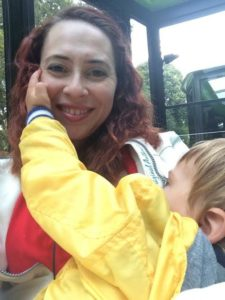 Smolinski nurses her youngest son in Luxembourg, 2015. He recently turned 4 and still breastfeeds.